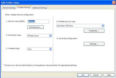 IBM location profiles setup